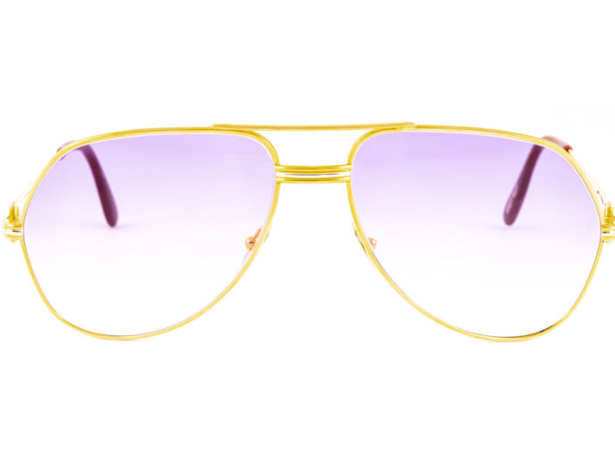 Cartier Vendome LC 59-16 Gold Purple