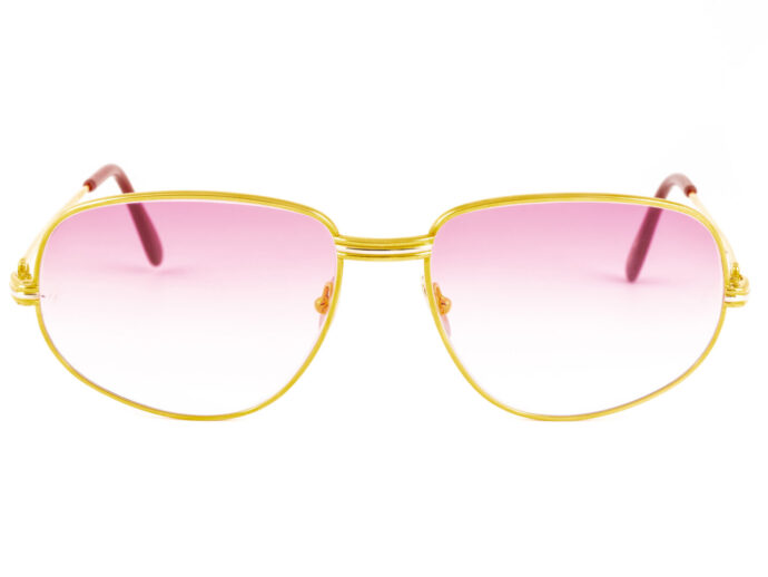 Cartier Romance Louis 58-18 Gold Pink