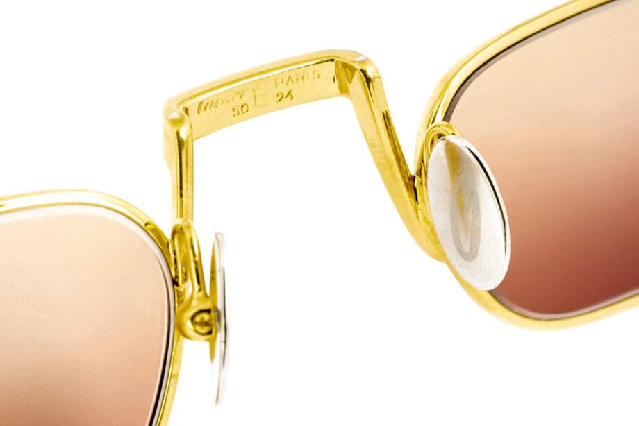 Cartier Demi Lune Laque 50-24 Gold Ambra